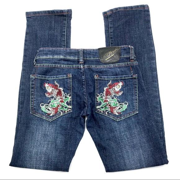 """Ed Hardy Denim - Ed Hardy  Skinny Jeans, Size 27"""", EUC"""